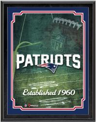 """New England Patriots Team Logo Sublimated 10.5"""" x 13"""" Plaque"""