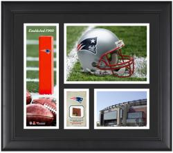 New England Patriots Team Logo Framed 15'' x 17'' Collage with Game-Used Football - Mounted Memories