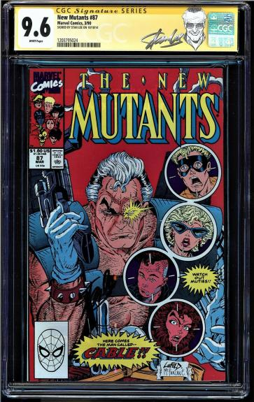 New Mutants #87 Cgc 9.6 White Ss Stan Lee 1st Appearance Of Cable #1203795024