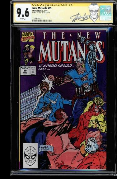New Mutants #89 Cgc 9.6 White Pages Ss Stan Lee Signed Cgc #1227814011
