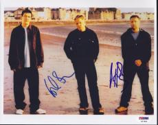 New Order Signed 8x10 Photo Autograph Peter Hook Bernard Sumner Psa/dna Loa