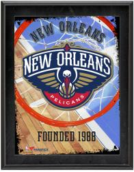 "New Orleans Pelicans Team Logo Sublimated 10.5"" x 13"" Plaque"