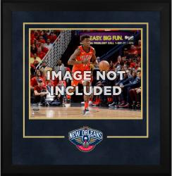 "New Orleans Pelicans 16"" x 20"" Horizontal Deluxe Setup Frame with Team Logo"