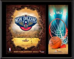 "New Orleans Pelicans Sublimated 12"" x 15"" Team Logo Plaque"