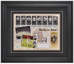 New Orleans Saints Believe Dat 2009 Season in Review Framed 11'' x 14'' Photograph - Mounted Memories