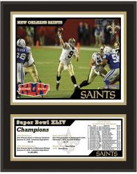 "New Orleans Saints 12"" x 15"" Sublimated Plaque - Super Bowl XLIV"