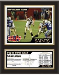 """New Orleans Saints 12"""" x 15"""" Sublimated Plaque - Super Bowl XLIV"""