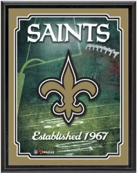 "New Orleans Saints Team Logo Sublimated 10.5"" x 13"" Plaque - Mounted Memories"