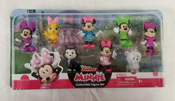 NEW SEALED 2019 Just Play Disney Junior Minnie Mouse Action Figure Set of 8