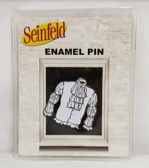 "NEW SEALED 2020 Culturefly Seinfeld 1.5"" Jerry Puffy Pirate Shirt Metal Pin"