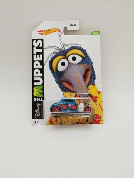 NEW SEALED 2021 Hot Wheels Muppets Gonzo '32 Ford Car Walmart Exclusive