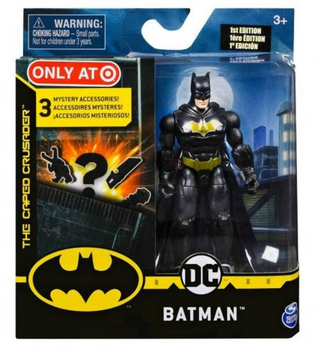 """NEW SEALED Batman 4"""" Action Figure w/ 3 Mystery Accessories Target Exclusive"""