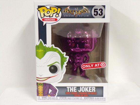 NEW SEALED Batman Joker Purple Chrome Funko Pop Figure #53 Target Exclusive