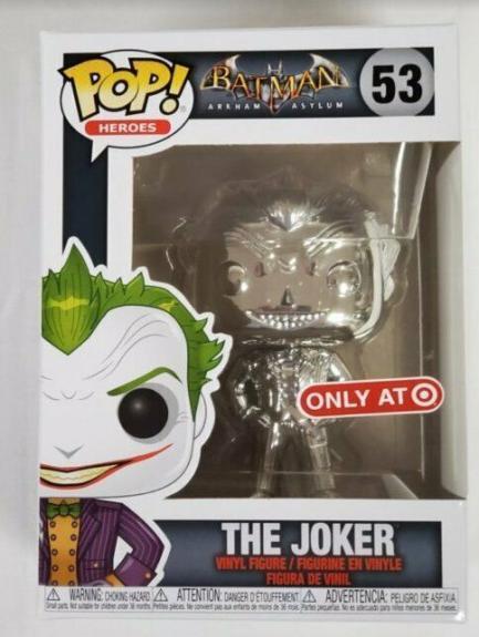 NEW SEALED Batman Joker Purple Silver Funko Pop Figure #53 Target Exclusive
