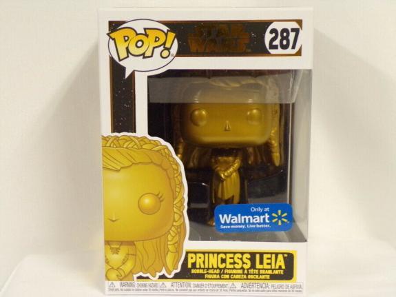 NEW SEALED Star Wars Princess Leia Gold Funko Pop Figure #287 Walmart Exclusive