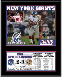 New York Giants 2011 NFC Conference Champions Sublimated 12'' x 15'' Plaque - Mounted Memories