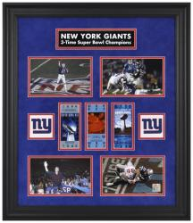 New York Giants Framed Super Bowl Ticket Collage-Limited Edition of 1000 - Mounted Memories