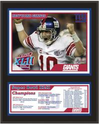 New York Giants Super Bowl XLII Champions Plaque - Mounted Memories