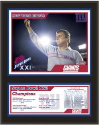 New York Giants 12'' x 15'' Sublimated Plaque - Super Bowl XXI - Mounted Memories