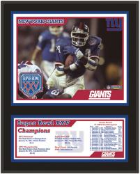 New York Giants 12'' x 15'' Sublimated Plaque - Super Bowl XXV - Mounted Memories