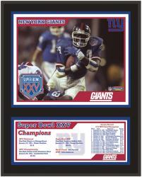 """New York Giants 12"""" x 15"""" Sublimated Plaque - Super Bowl XXV"""