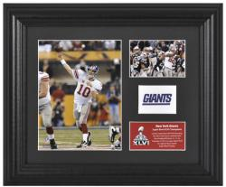 New York Giants Super Bowl XLVI Champions Framed Photos Collage - Mounted Memories