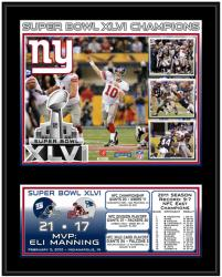 """New York Giants Super Bowl XLVI Sublimated 12"""" x 15"""" Plaque"""