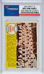 New York Giants Team 1958 Topps #19 Card 1 with Willie Mays