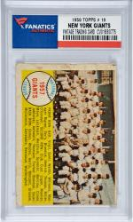 New York Giants Team 1958 Topps #19 Card 2 with Willie Mays