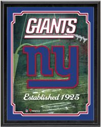 "New York Giants Team Logo Sublimated 10.5"" x 13"" Plaque - Mounted Memories"