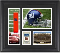 New York Giants Team Logo Framed 15'' x 17'' Collage with Game-Used Football