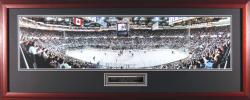 New York Rangers at New York Islanders Framed Panoramic Photo - Mounted Memories