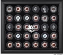 New York Islanders 30-Puck Black Display Case