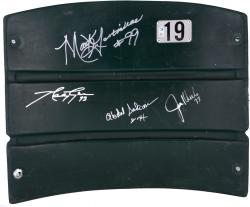 Mark Gastineau, Joe Klecko, Marty Lyons & Abdul Salaam New York Jets Autographed Shea Stadium Seat Back