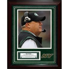 New York Jets Rex Ryan Giants Stadium Game Used Turf Framed Collage Buffalo Bill