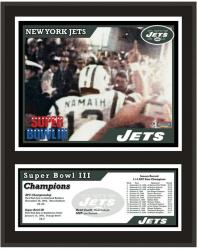 New York Jets 12'' x 15'' Sublimated Plaque - Super Bowl III - Mounted Memories