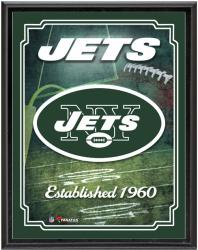 "New York Jets Team Logo Sublimated 10.5"" x 13"" Plaque - Mounted Memories"