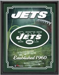 "New York Jets Team Logo Sublimated 10.5"" x 13"" Plaque"