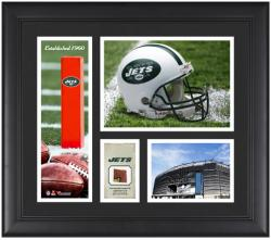 "New York Jets Team Logo Framed 15"" x 17"" Collage with Game-Used Football"