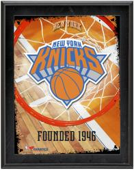 """New York Knicks Team Logo Sublimated 10.5"""" x 13"""" Plaque"""