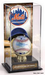 New York Mets Game-Used Baseball and Sublimated Display Case