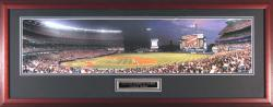 New York Mets vs. New York Yankees Subway Series Night Game Framed Unsigned Panoramic Photograph with Suede Matte - Mounted Memories