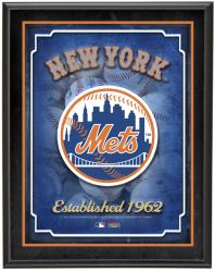"""New York Mets Team Logo Sublimated 10.5"""" x 13"""" Plaque"""