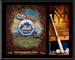 "New York Mets Sublimated 12"" x 15"" Team Logo Plaque"