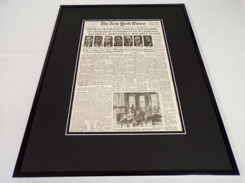 New York Times Mar 2 1974 Framed 16x20 Front Page Poster Richard Nixon Watergate