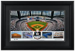Yankee Stadium New York Yankees Framed Stadium Panoramic with Game-Used Ball-Limited Edition of 500 - Mounted Memories