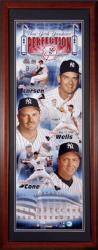 New York Yankees - Perfection - Framed Unsigned Panoramic Photograph with Suede Matte - Mounted Memories