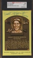 NEW YORK YANKEES signed PHIL RIZZUTO - hof plaque - AUTHENTICATED & ENCAPSULATED