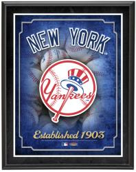 New York Yankees Team Logo Sublimated 10.5'' x 13'' Plaque - Mounted Memories
