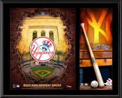 New York Yankees Sublimated 12'' x 15'' Team Logo Plaque - Mounted Memories